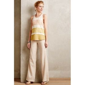 ANTHRO Pilcro Linen Blend Wide Leg Pants 4